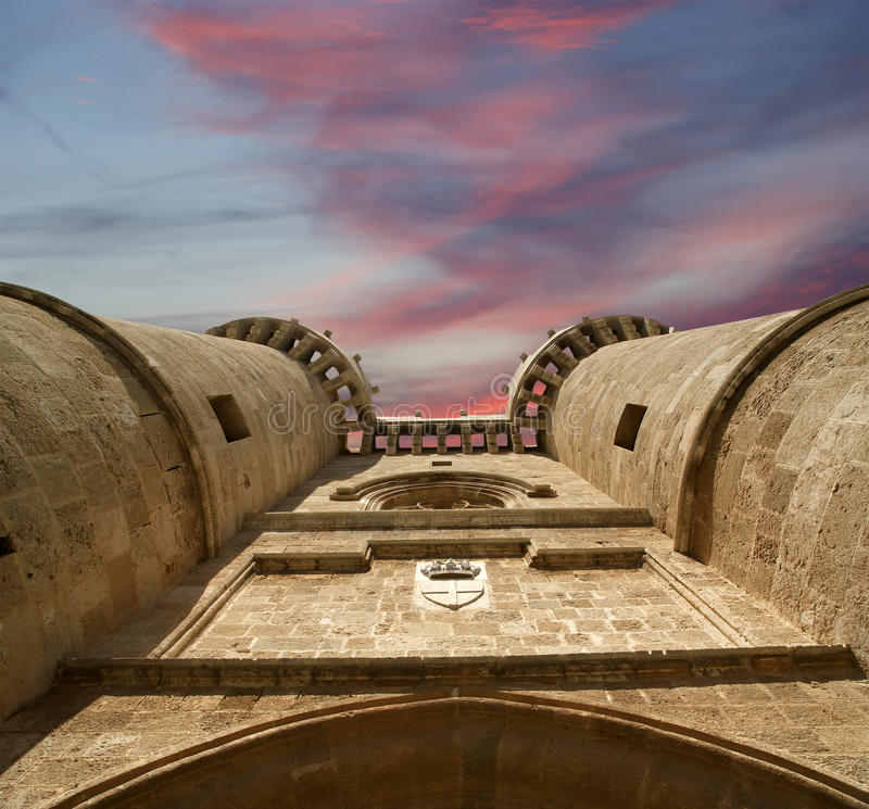 Download Rhodes Medieval Knights Castle (Palace), Greece Stock Photo - Image: 31352560