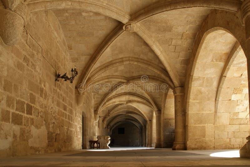 Rhodes Medieval Knights Castle (Paleis), Griekenland stock fotografie