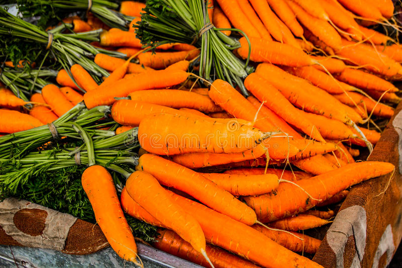 Rhodes rynku marchewka zdjęcie stock