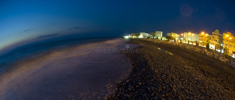 Download Rhodes shore fisheye stock photo. Image of waves, rhodes - 10523490