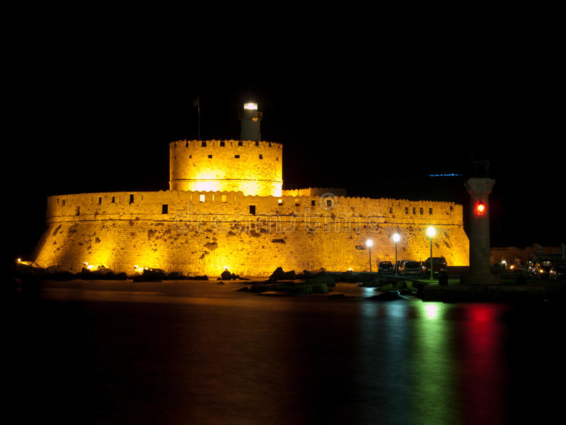 Rhodes St Nicholas. Fort St Nicholas in Rhodes, Greece royalty free stock photos