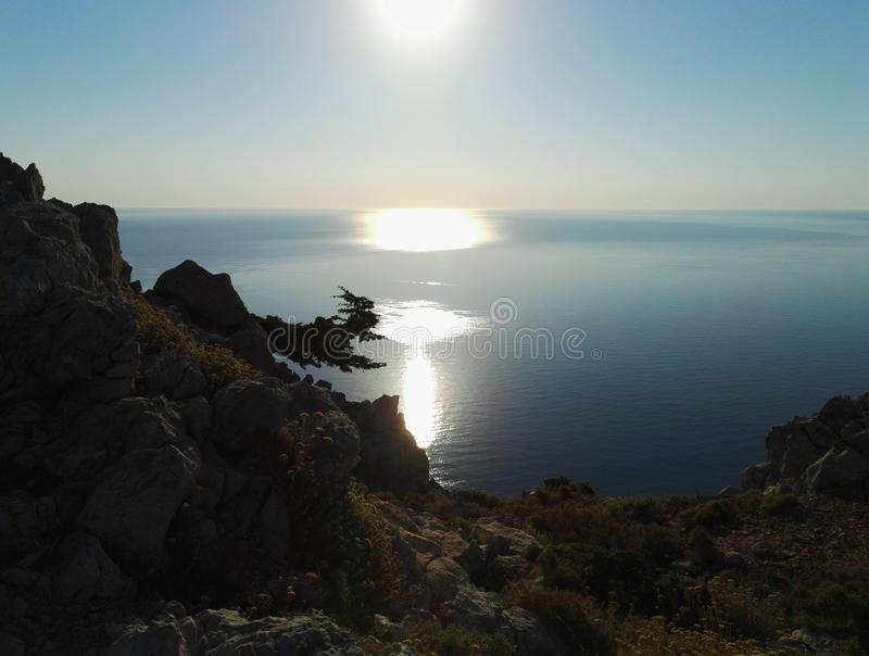 Rhodes Sun stock afbeelding