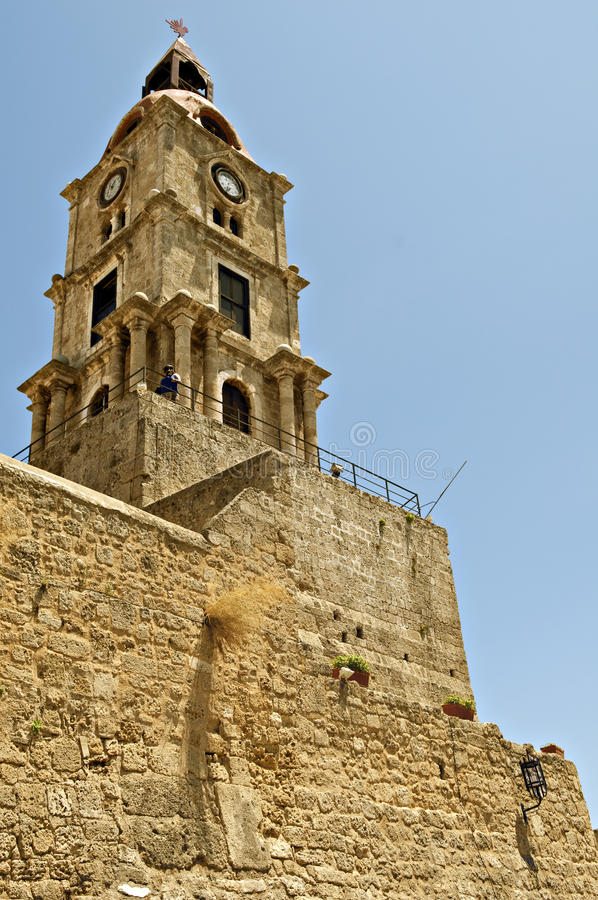 Download Rhodes tower stock photo. Image of tourism, tourist, ancient - 21343848