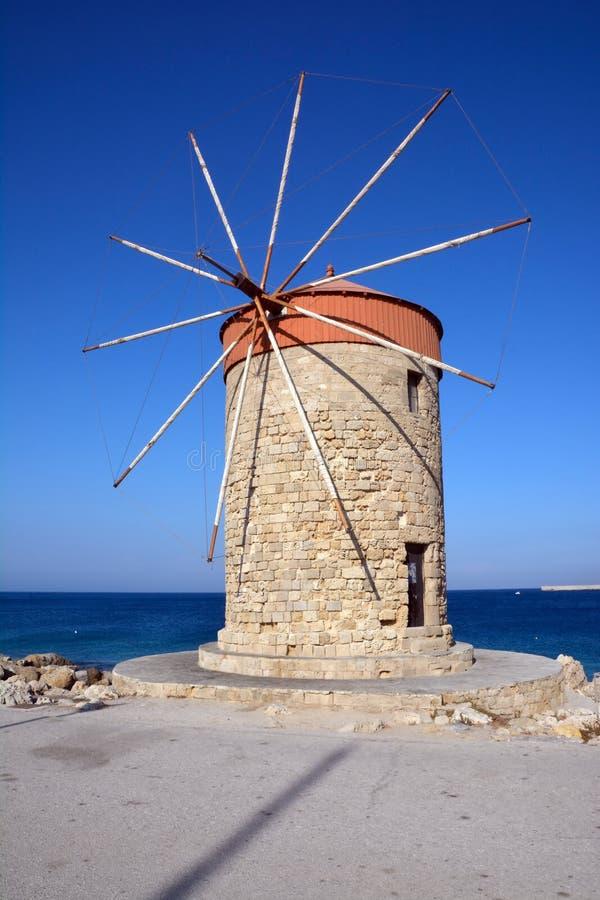 Rhodes Windmill immagine stock