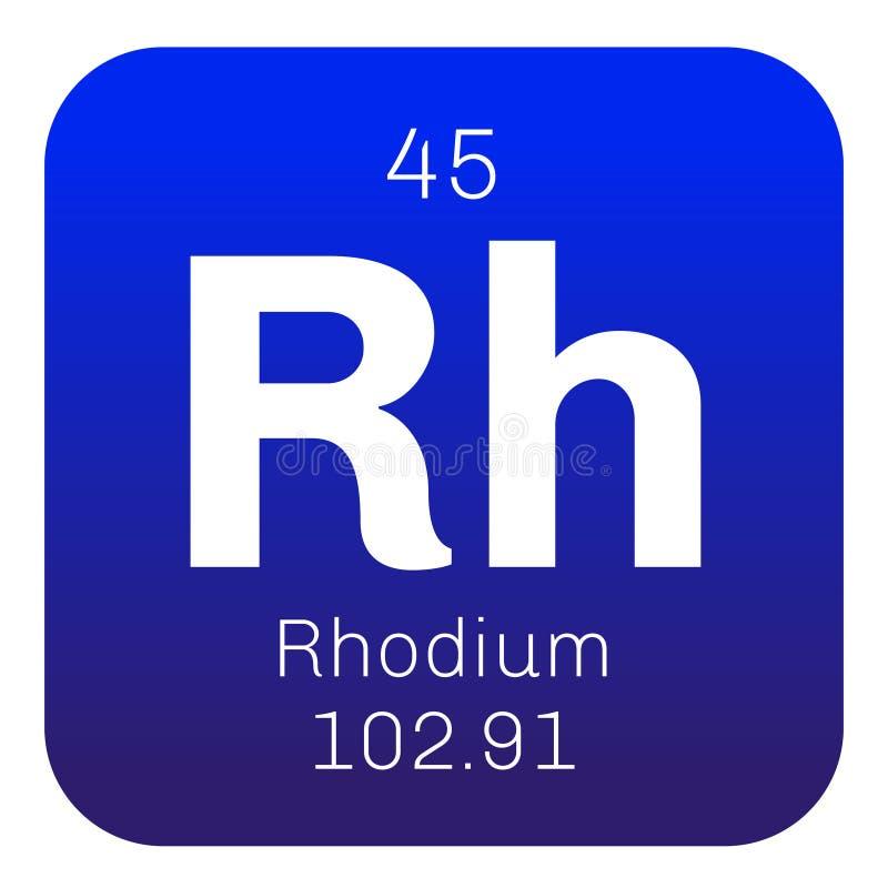 Rhodium chemisch element vector illustratie