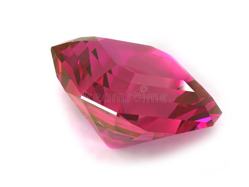Rhodolite or Ruby gemstone. Isolated on white background vector illustration