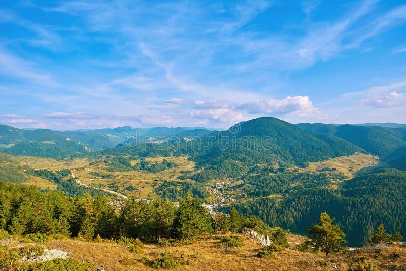 Rhodope Mountains in Bulgaria. Rhodopes Mountain Range in Southeastern Europe, Bulgaria royalty free stock photo