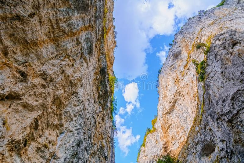 Rhodope Mountains in Bulgaria. Trigrad Gorge, Rhodope Mountains in Southern Bulgaria, Southeastern Europe stock photography