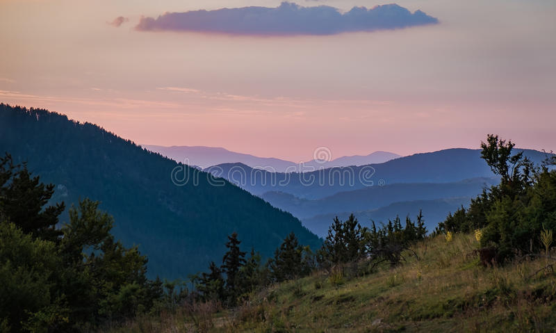 The Rhodope mountains royalty free stock image