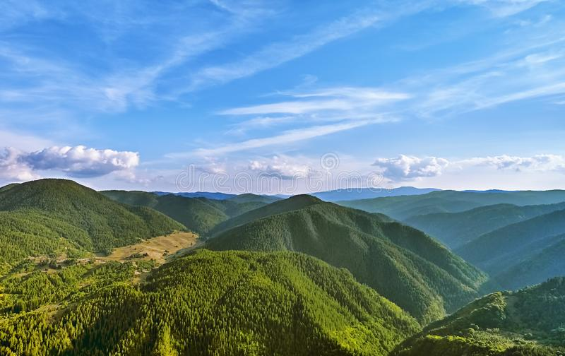 Rhodope Mountains in Bulgaria. Rhodopes Mountain Range in Southeastern Europe, Bulgaria stock images