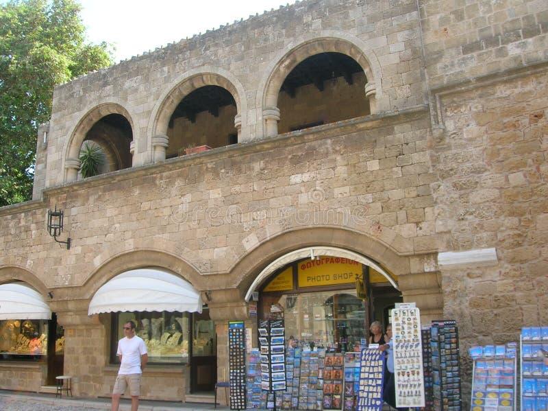 Rhodos die alte Hafenstadt lizenzfreie stockfotografie