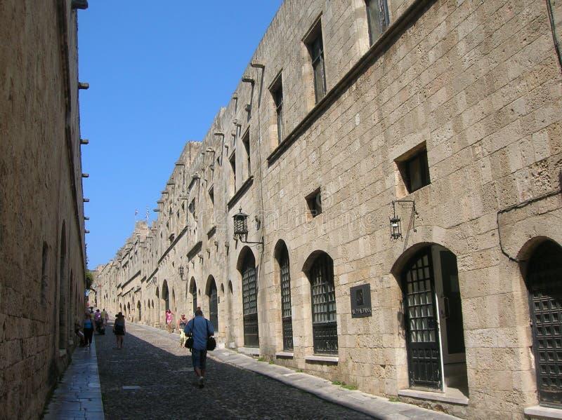 Rhodos die alte Hafenstadt stockbilder