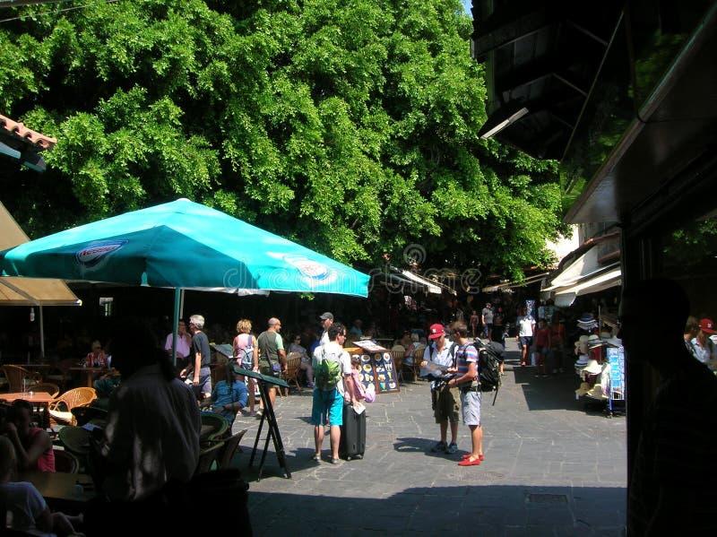 Rhodos die alte Hafenstadt lizenzfreies stockfoto