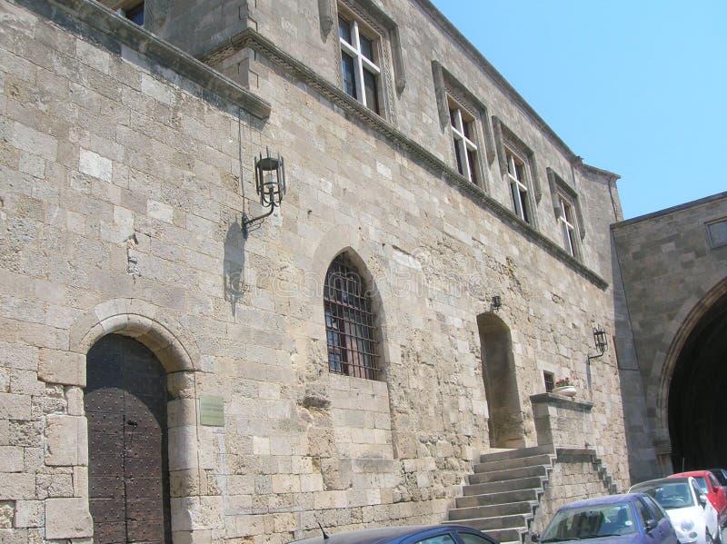 Rhodos die alte Hafenstadt stockfotografie