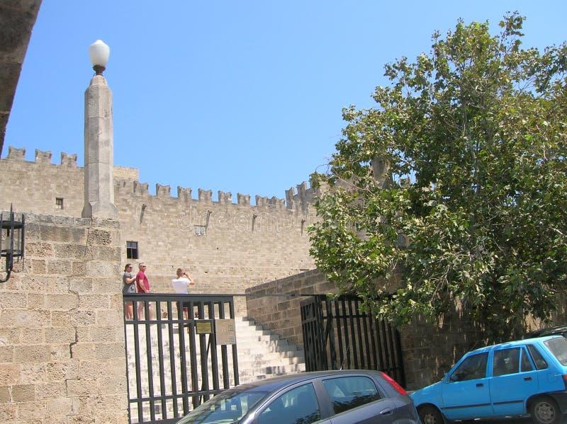 Rhodos die alte Hafenstadt lizenzfreies stockbild