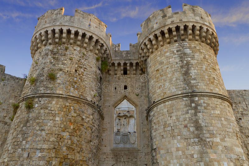 Rhodos-Festung stockfotos