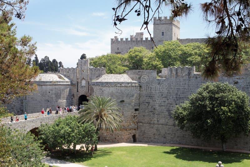 Rhodos-Palast des großartigen Originals lizenzfreie stockbilder