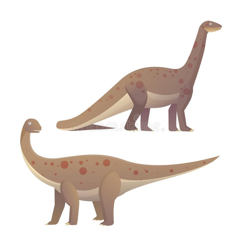 Rhoetosaurus plant eaters. Lagest land animals vector illustration