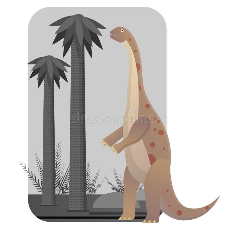 Rhoetosaurus plant eaters. Lagest land animals royalty free illustration