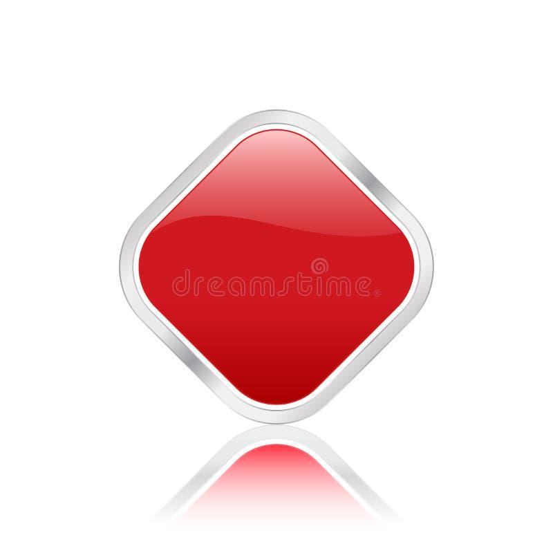 rhomb красного цвета иконы иллюстрация вектора