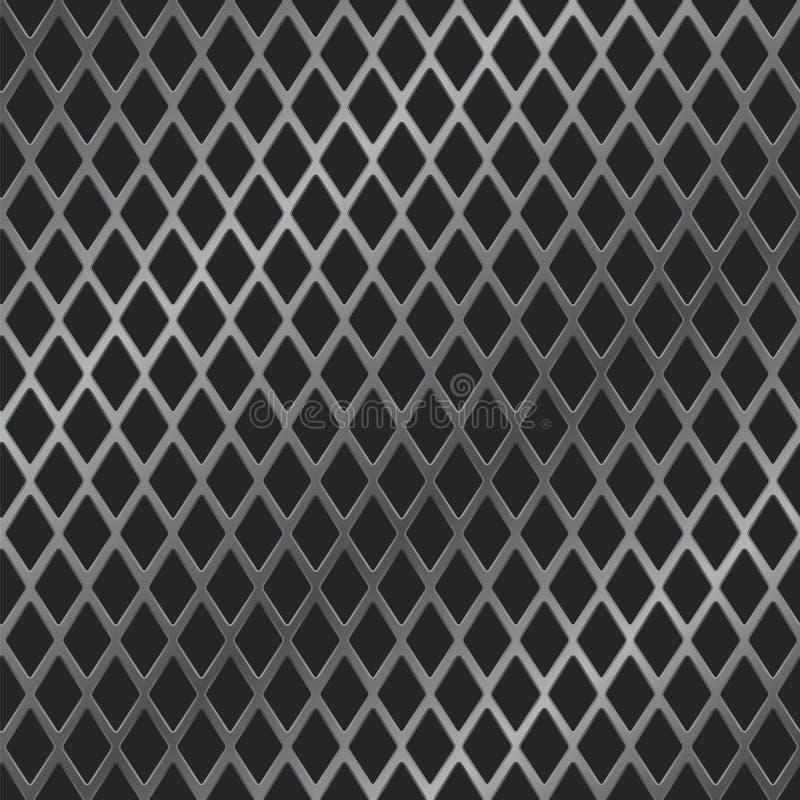 Download Rhomb metal grill stock vector. Illustration of iron - 29425185