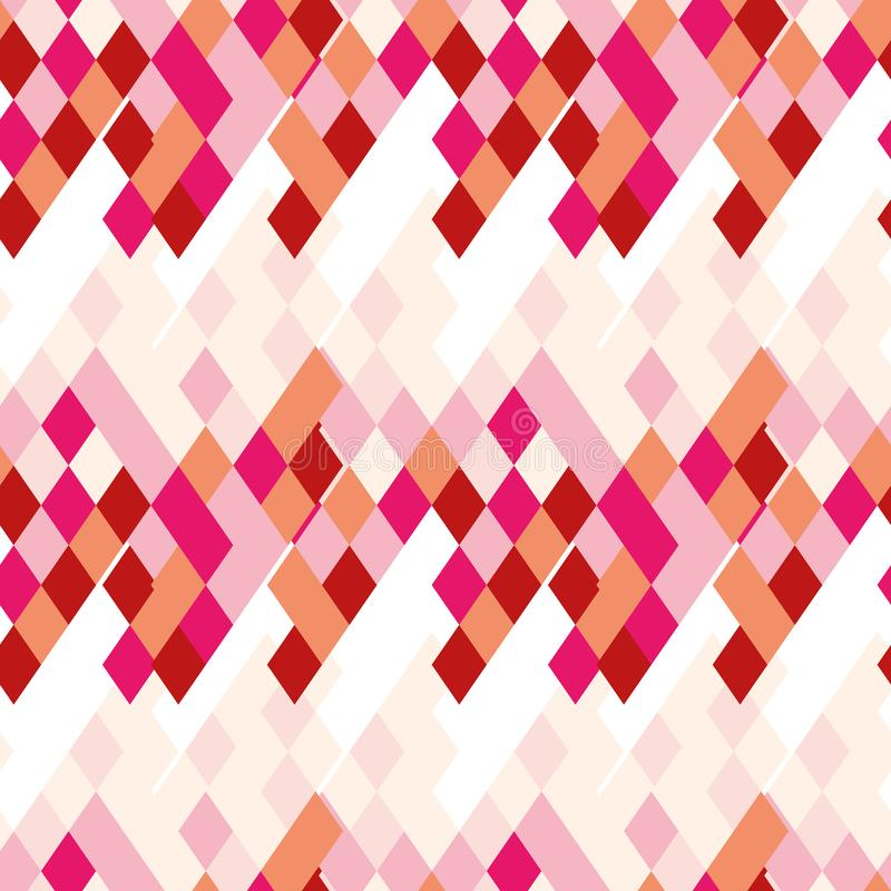 Rhombic bright pattern of iridescent details. Emotional pattern suitable for decoration paper royalty free illustration