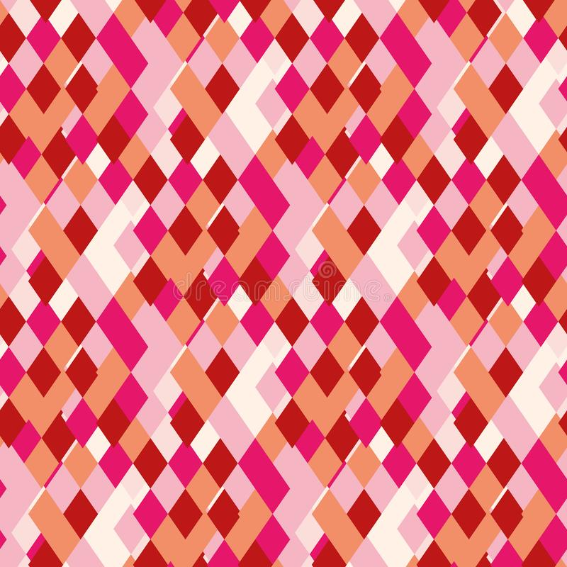 Rhombic bright pattern of iridescent details. Emotional pattern suitable for decoration paper stock illustration