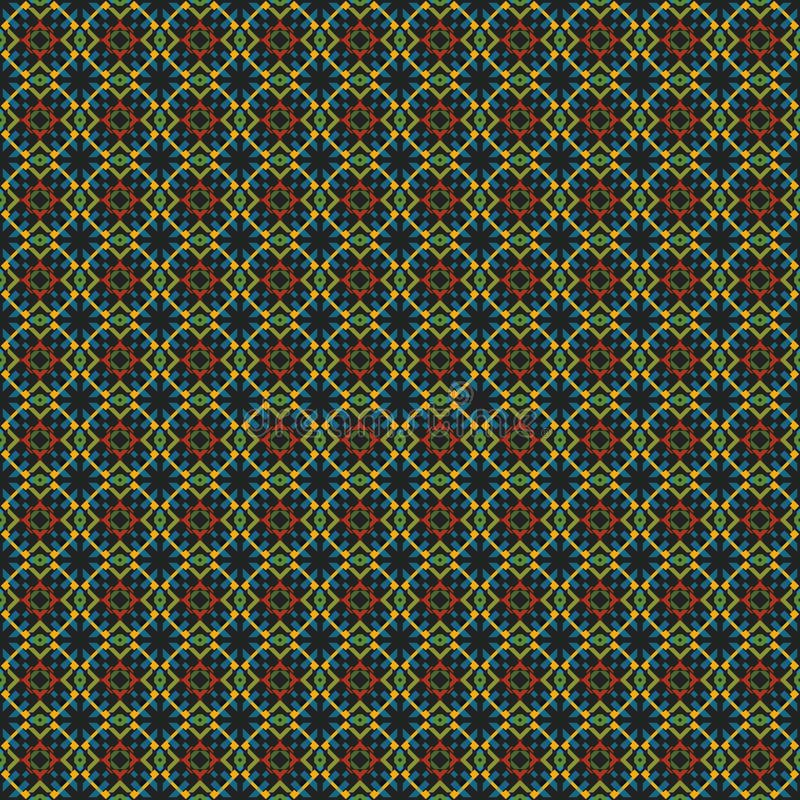 Rhombic seamless pattern. Block repeat background. Geometric pattern in traditional, ethnic style. Moroccan tiles. Rhombic seamless pattern. Block repeat vector illustration