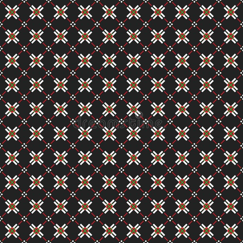 Rhombic seamless pattern. Block repeat background. Geometric pattern in traditional, ethnic style. Moroccan tiles. Rhombic seamless pattern. Block repeat royalty free illustration