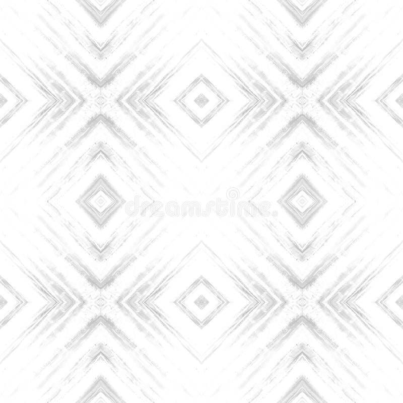 Rhombus abstrakcjonistyczny plemienny bezszwowy wzór nowoczesna konsystencja Wielostrzałowe geometryczne płytki Tekstylnej tkanin obrazy royalty free