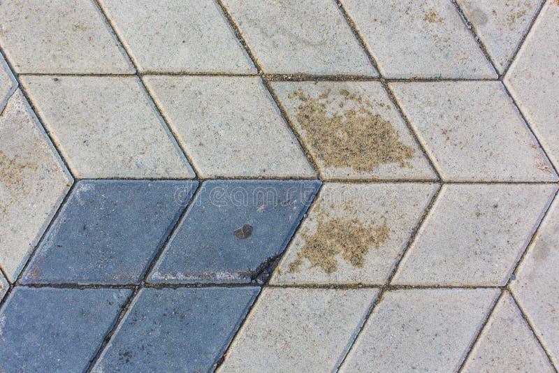 Rhombus betonowych płytek tekstury deseniowy tło zdjęcie royalty free
