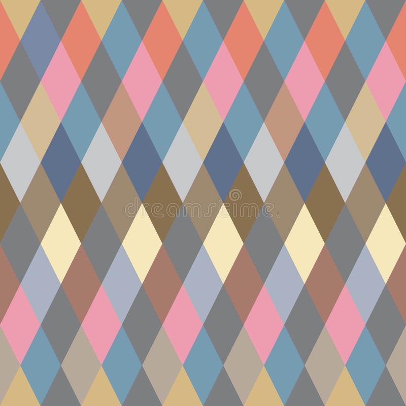 Rhombus colorido. Modelo inconsútil, fondo libre illustration