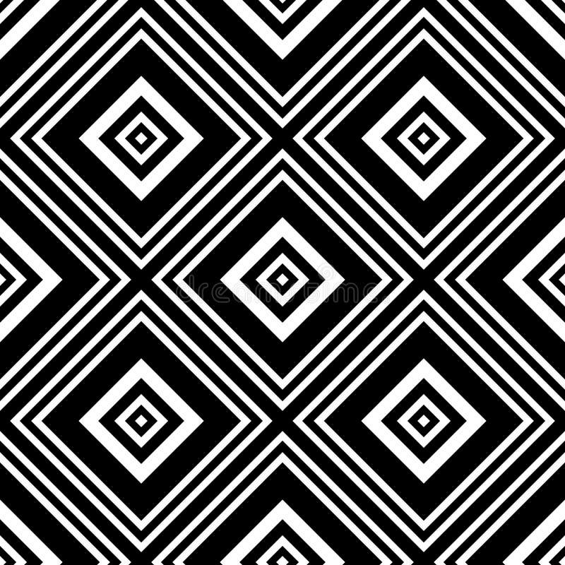 Rhombus geométrico del vector inconsútil stock de ilustración