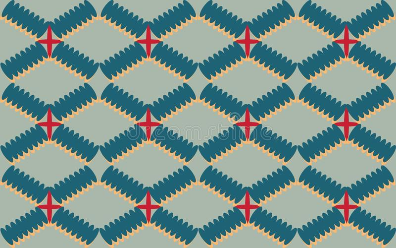 Rhombus geometrics shape of repetitive ethnic pattern. Rhombus geometrics shape repetitive background pattern suitable for book cover, wallpaper decoration, home vector illustration