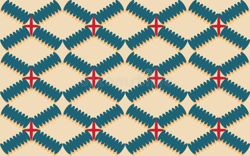 Rhombus 3 geometrics shape of repetitive ethnic pattern. Rhombus geometrics shape repetitive background pattern suitable for book cover, wallpaper decoration vector illustration