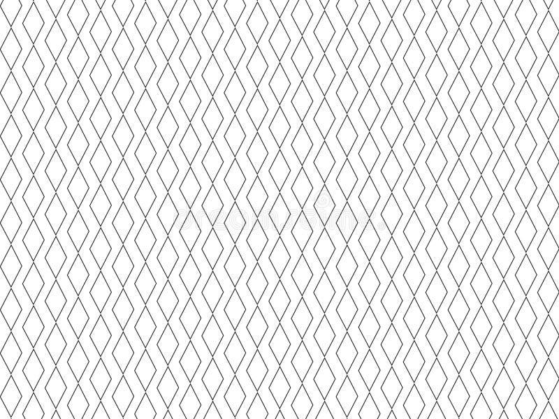 Rhombus krawata Minimalny druk ilustracja wektor