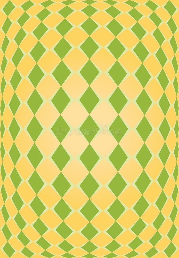 rhombus zielona pomarańczowa tekstura ilustracja wektor