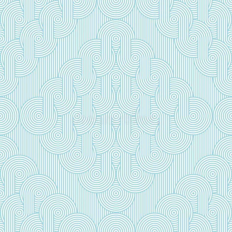 Rhombuses με τις σειρές των ομόκεντρων κύκλων Άνευ ραφής γεωμετρικό σχέδιο απεικόνιση αποθεμάτων