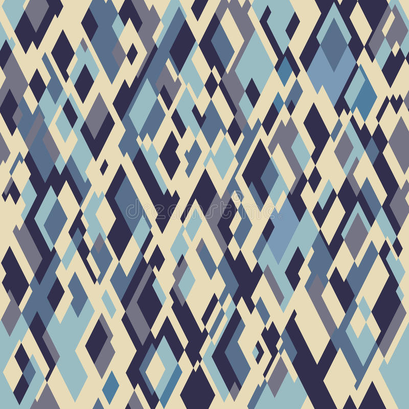 Rhombuses seamless pattern stock illustration