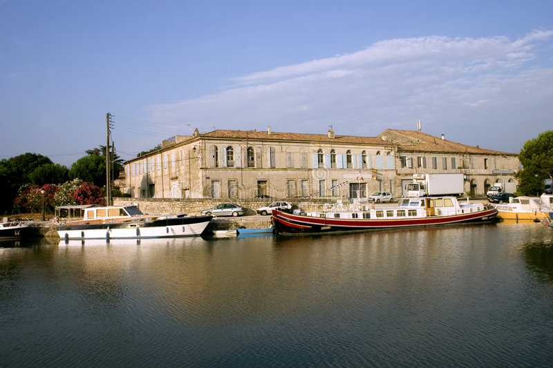 Download Rhone river scenic stock image. Image of boats, district - 2250631