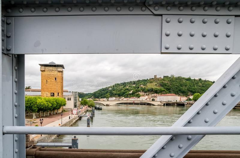 Rhone river in Vienne stock photos