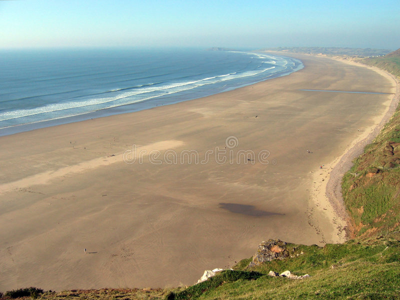 Rhossili bay stock images