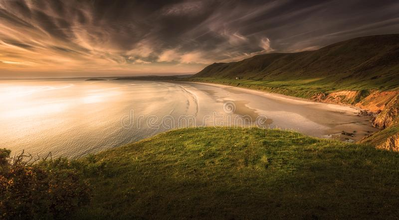 Rhossili Bay Swansea royalty free stock images