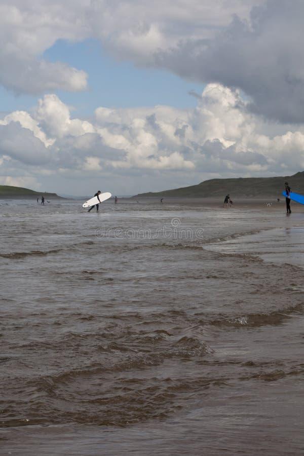 Rhossili strand, Gower Peninsular royaltyfri fotografi