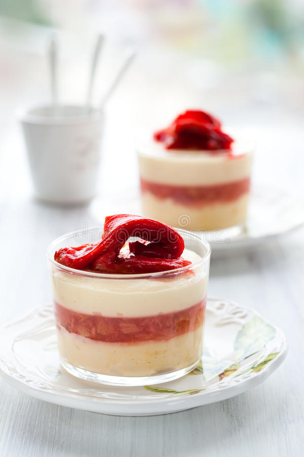 Free Rhubarb And Quark Dessert Stock Photography - 25901772