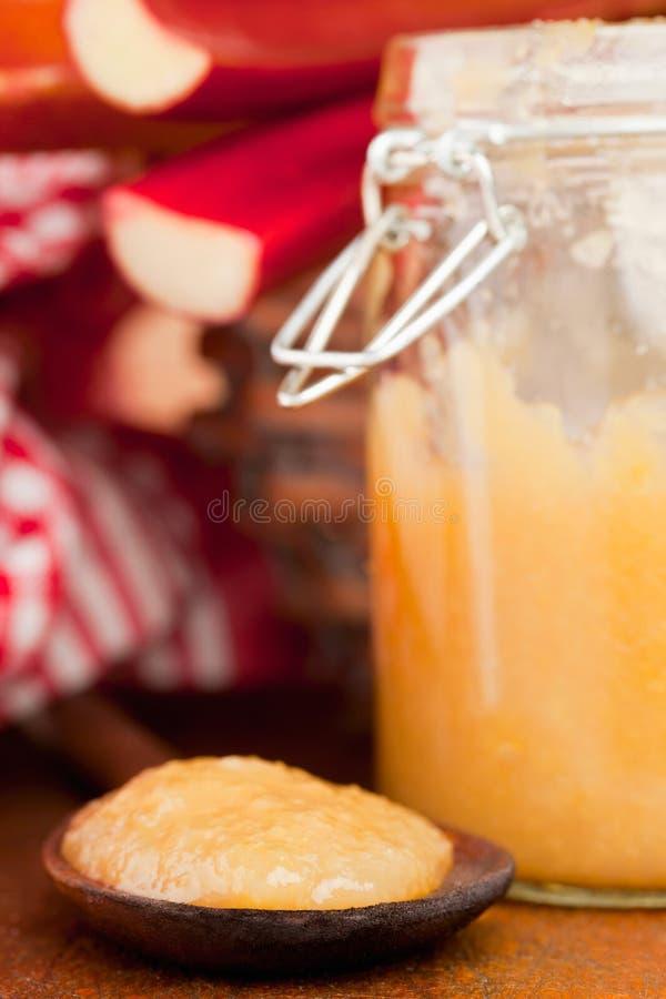 Download Rhubarb jam stock image. Image of glass, sweet, preserve - 26091145