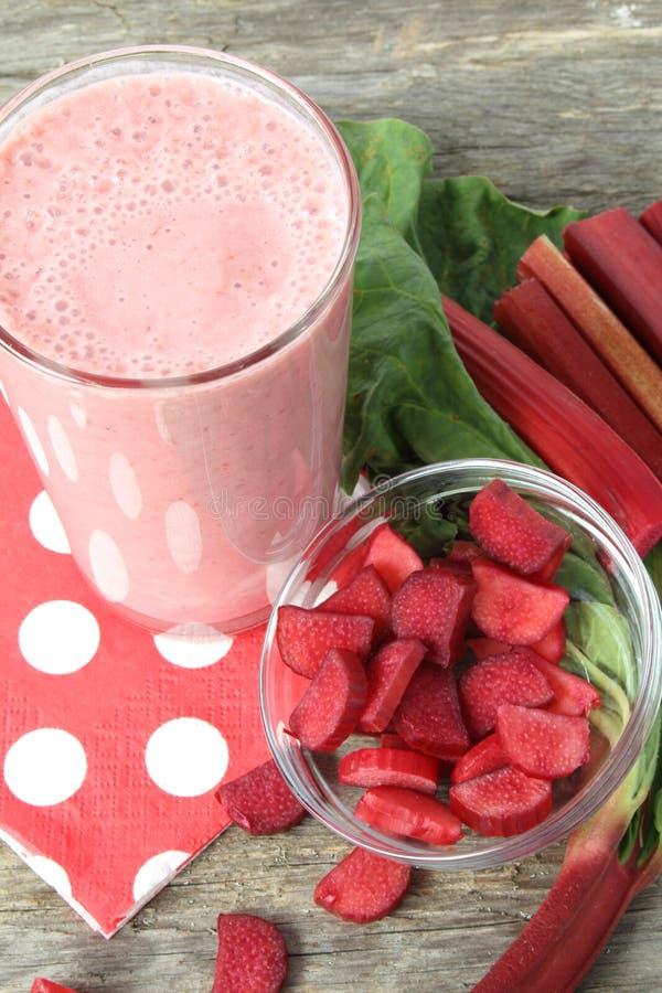 Rhubarb smoothie stock image