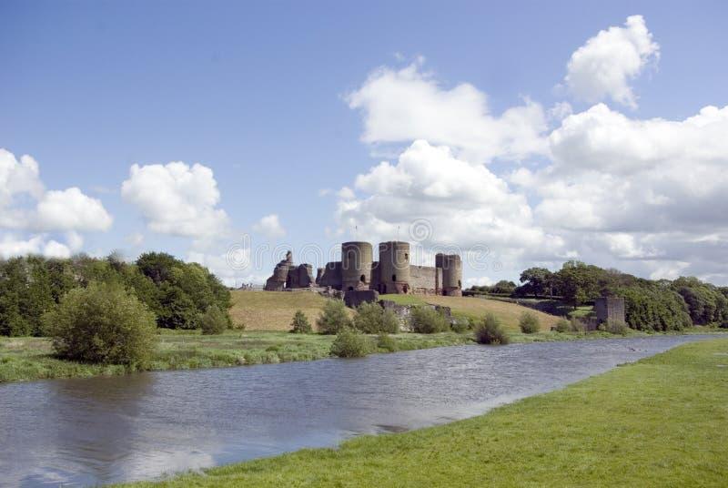 rhuddlan的城堡 免版税库存图片
