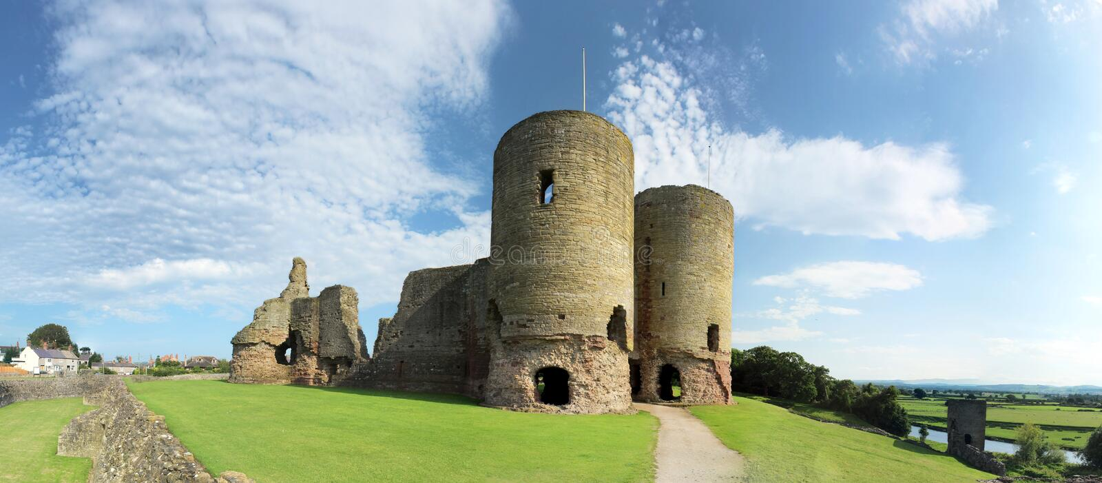 Rhuddlan Castle - North Wales. Rhuddlan Castle - Castell Rhuddlan is a castle located in Rhuddlan, Denbighshire, North Wales. It was erected by King Edward I in stock photography