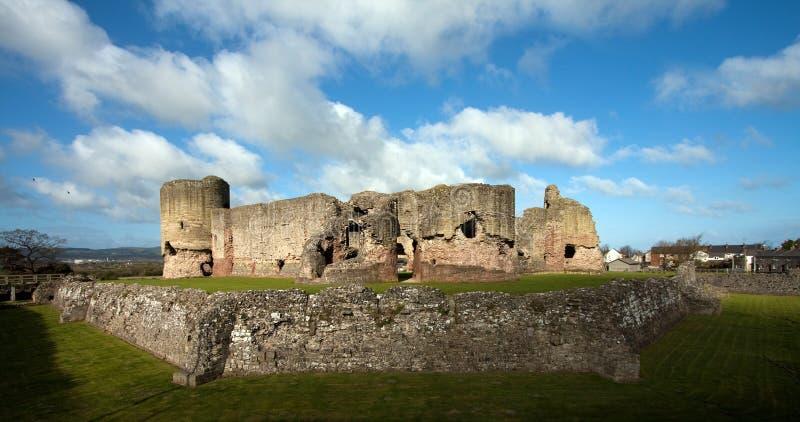 rhuddlan slott royaltyfria foton